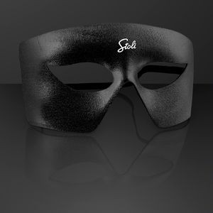 Black Costume Mask, Mardi Gras Throws (NON-Light Up)