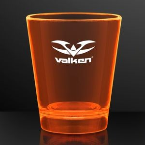 1.5 oz. UV Reactive Orange Glow Shot Glasses