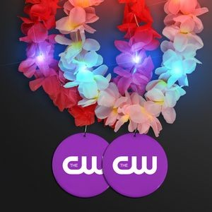 Light Up Hawaiian Leis with Custom Purple Medallion