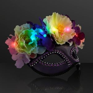 Blinky Flower Mask, LED Masquerade Ball Masks