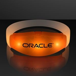 Imprinted Orange LED Steady Illumination Stretch Bracelet