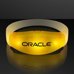 Imprinted Yellow LED Steady Illumination Stretch Bracelet