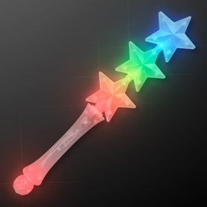 Triple Star Flashing Wand (Red Blue Green)