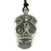 Catriona Silver Skull Pendant Necklace
