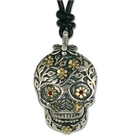 Flora Skull Pendant Necklace