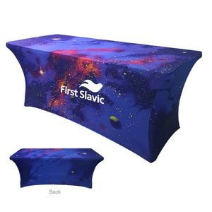 6' Stretch Table Cover(Dye Sublimation Table Throw)