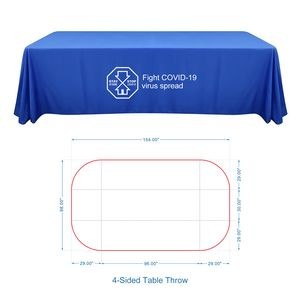 8' Standard Table Throw (4-Sided Table Cover)
