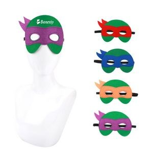 Cartoon Turtle Superhero Mask