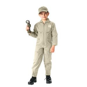 Kids Khaki Air Force Type Flightsuit