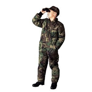 Kids' Woodland Camouflage Insulated Coveralls (XS to XL)