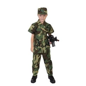 Kids' Woodland Camouflage Soldier Costume
