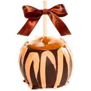 Dunked Caramel Apple w/Dark Belgian Chocolate & Orange Drizzle