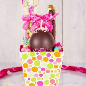 Spring Polka Dot Caramel Apple Sweet Treat Gift Box