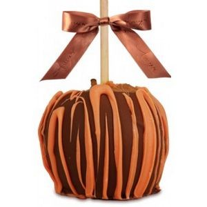 Dunked Caramel Apple w/Milk Belgian Chocolate & Orange Drizzle
