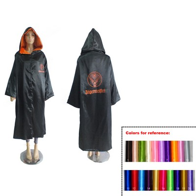 Double Layer Adult Cape with Velcro Closure/ Hood & Long Sleeves