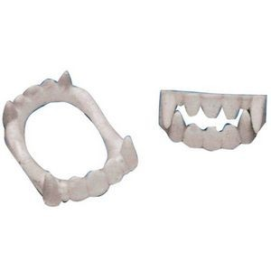 White Vampire Fangs Costume Accessory (Case of 6)