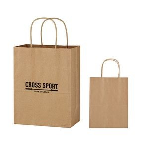 Kraft Paper Brown Shopping Bag - 8