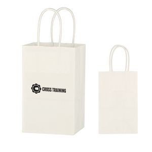 Kraft Paper White Shopping Bag - 5-1/4