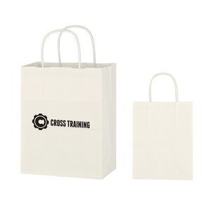 Kraft Paper White Shopping Bag - 8