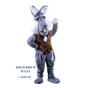 Rabbit w/Clothing Mascot Costume