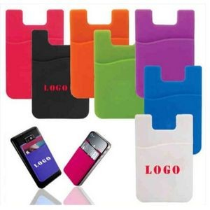 Silicone Phone Wallet. Soft adhesive card holder sleeve