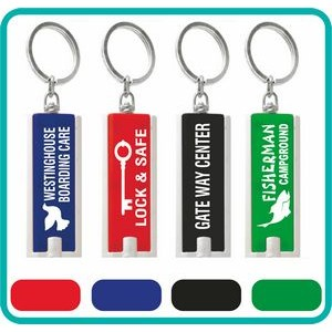 Rectangle LED Flashlight Keychains