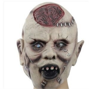 Halloween Scary Blasting Brain Mask